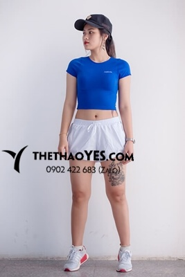 bộ quần áo thể thao nữ cổ tròn