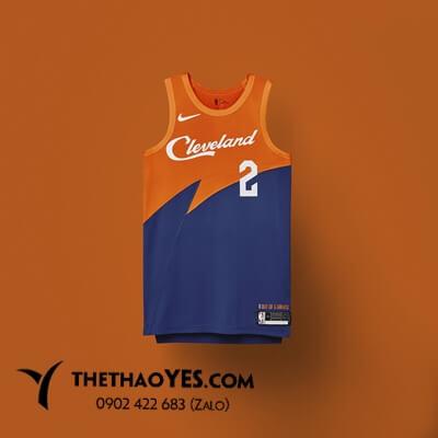 áo thể thao bóng rổ xanh cam
