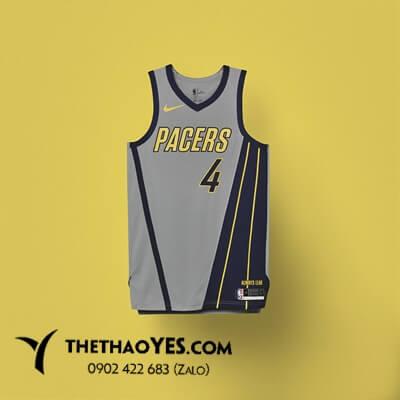 áo thể thao bóng rổ xám sọc