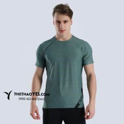 áo tập gym nam đẹp màu xanh rêu