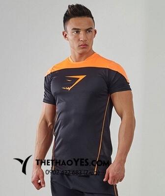Áo thun tập gym nam màu cam