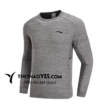 Áo tập gym nam cổ tròn màu xám