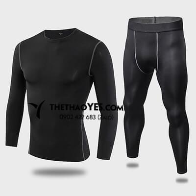 Bộ đồ tập gym nam đẹp màu đen