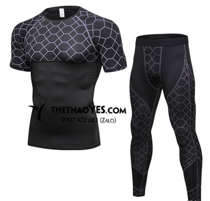 Bộ đồ tập gym nam quần legging