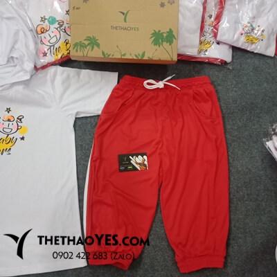 Bộ thể thao trẻ em màu đỏ