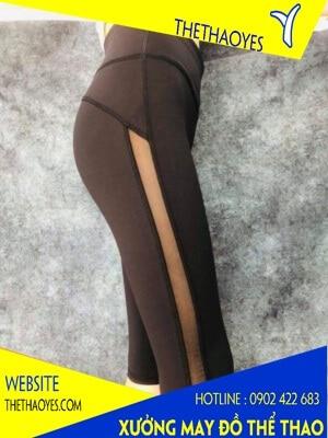 Quần legging thể thao nữ có sọc