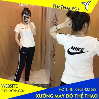 áo thun cổ tròn thể thao Nike