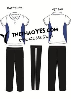 Mẫu thiết kế đồng phục vải thể thao