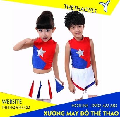 quần áo aerobic trẻ em