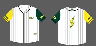 áo thun bóng chày hàn quốc