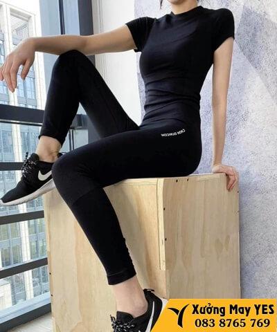 xưởng may bộ quần áo thể thao nữ