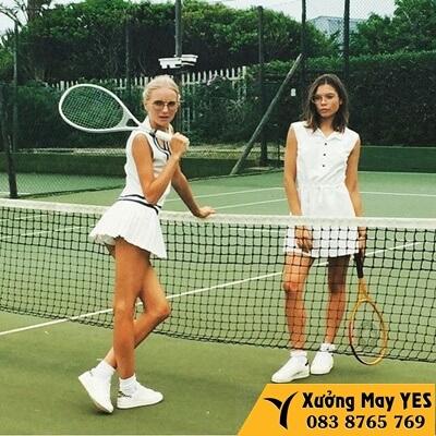 xưởng may quần áo tennis