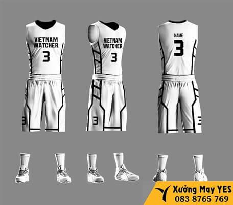 may đồng phục bóng rổ việt nam