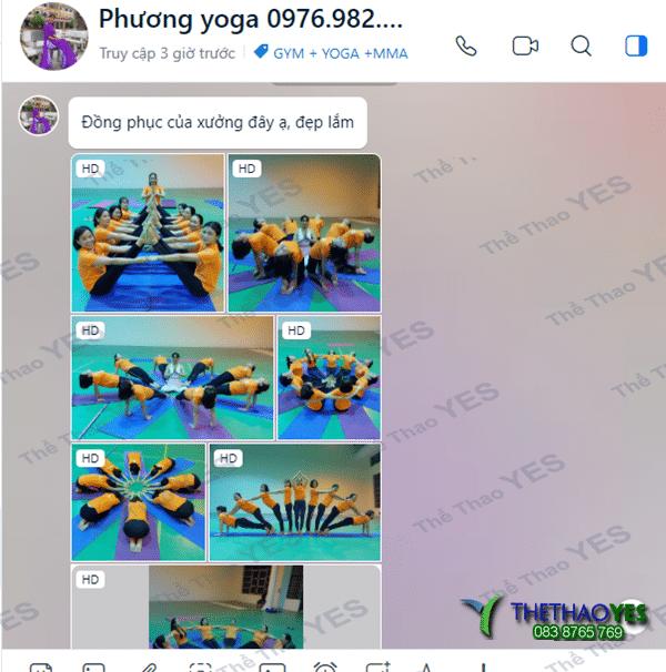 may bộ đồng phục yoga theo yêu cầu